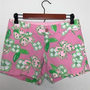 Lilly Pulitzer Callahan Pink Butterfly Shorts